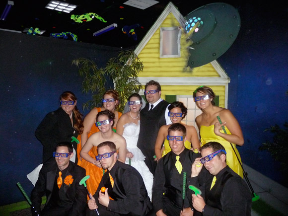 picture of Bridal Party at Alien Vacation Mini Golf