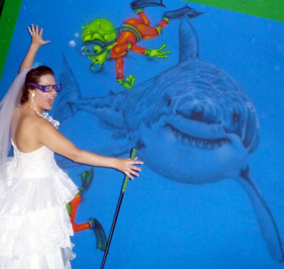 picture of Brides beware of sharks!