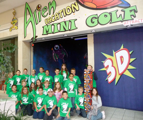 Plan your group outing at Alien Vacation Mini Golf Attraction